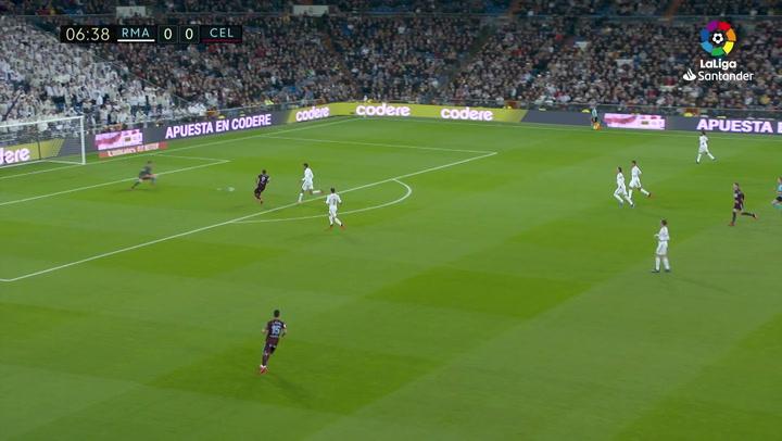 Gol de Smolov (0-1) en el Real Madrid 2-2 Celta