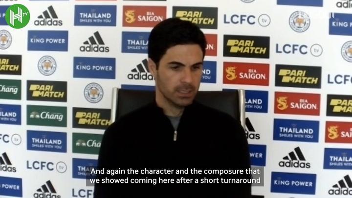 Arteta: 'I am very proud of Leicester win'