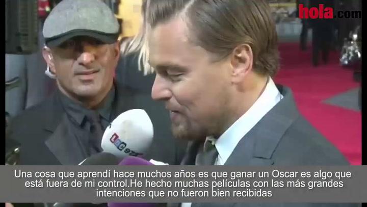 Leonardo DiCaprio: 'Aprendí hace muchos años que ganar un Oscar es algo que está fuera de mi control'