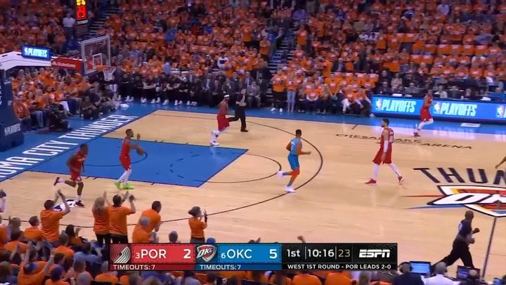 Russell Westbrook, mejor jugador de la jornada de playoff de la NBA