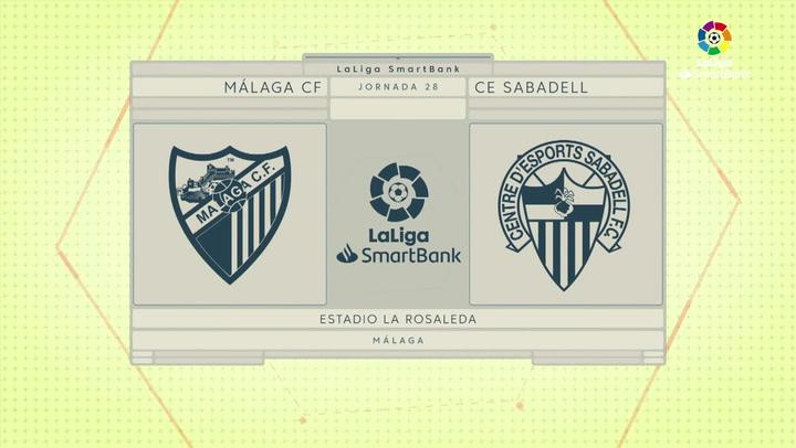 LaLiga Smartbank (Jornada 28): Málaga 2-0 Sabadell