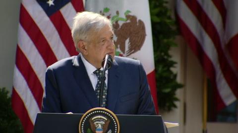 López Obrador agradece a Trump no haber tratado a México