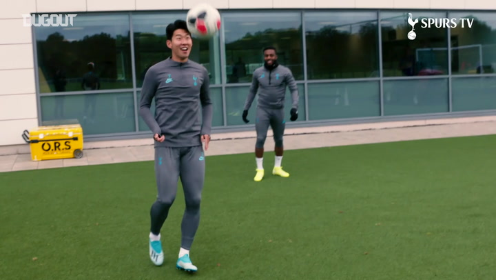 Keepy-up challenge with Heung Min-Son, Danny Rose and Eric Dier