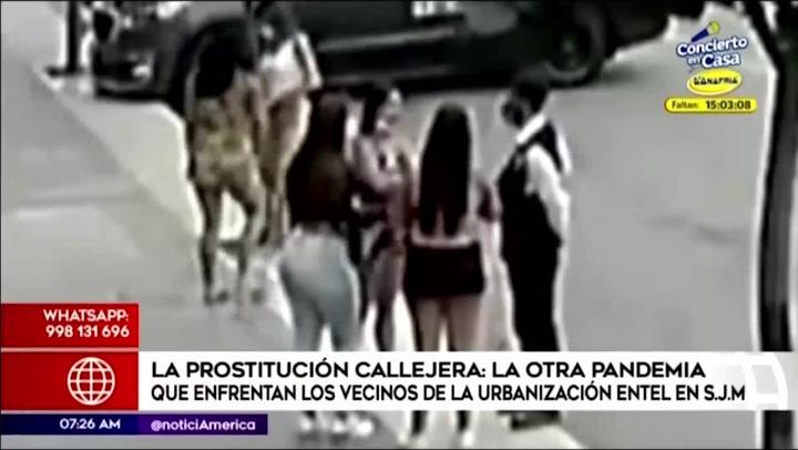 Vecinos protestan en contra de la prostitución callejera en San Juan de Miraflores