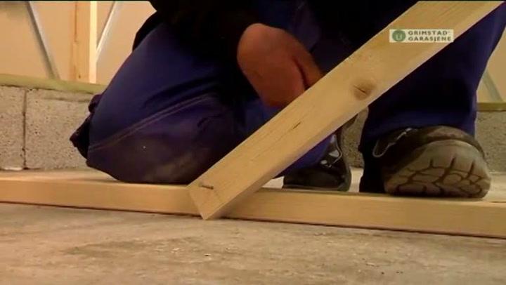 Bygge garasje: Hvordan bygge element over port