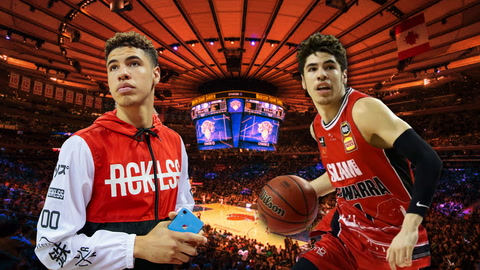 What are the odds that the Knicks draft LaMelo Ball?