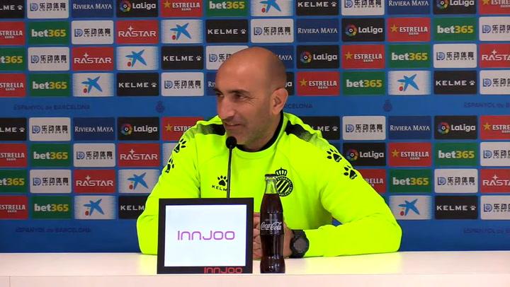 La rueda de prensa de Abelardo (Espanyol), previa del partido contra el Villarreal