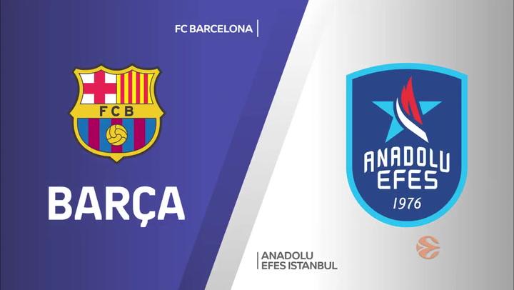 El resumen de la final de la Euroliga FC Barcelona - Anadolu Efes (81-86)