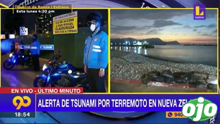 Miraflores y La Punta: Alerta de Tsunami por terremoto en Nueva Zelanda | VIDEO