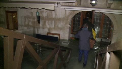 Venecia afectada por una marea alta histórica la noche del martes