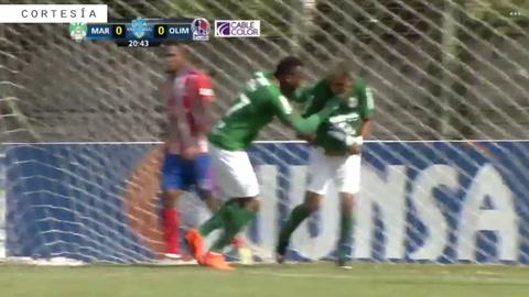 Romero abre el marcador para Marathón ante Olimpia en SPS