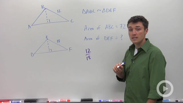 Similarity and Area Ratios - Problem 3