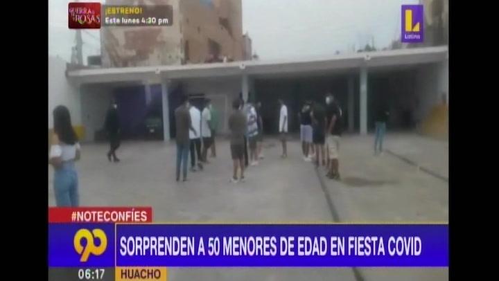 Huacho: intervienen a 50 menores de edad que participaban de una fiesta clandestina