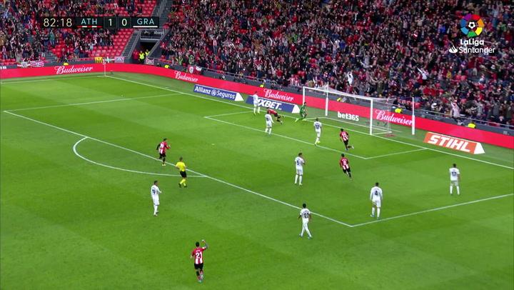 Gol de Yuri (2-0) en el Athletic 2-0 Granada