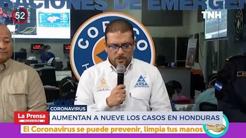 Noticiero: Aumentan a nueve los casos de coronavirus en Honduras