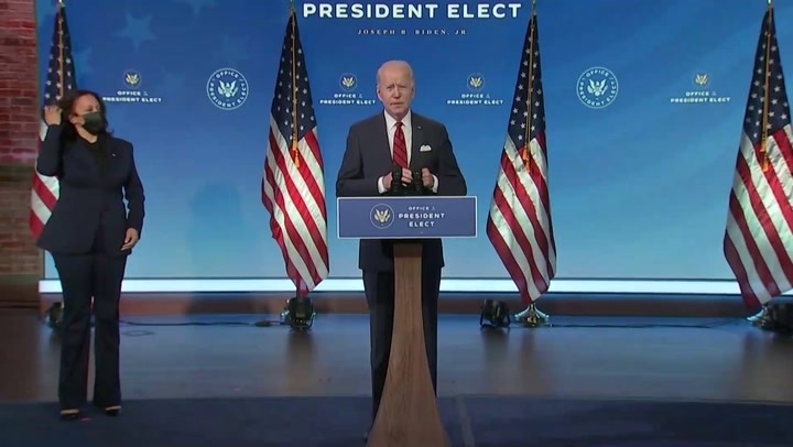 Joe Biden revela plan de vacunación contra la pandemia del nuevo coronavirus