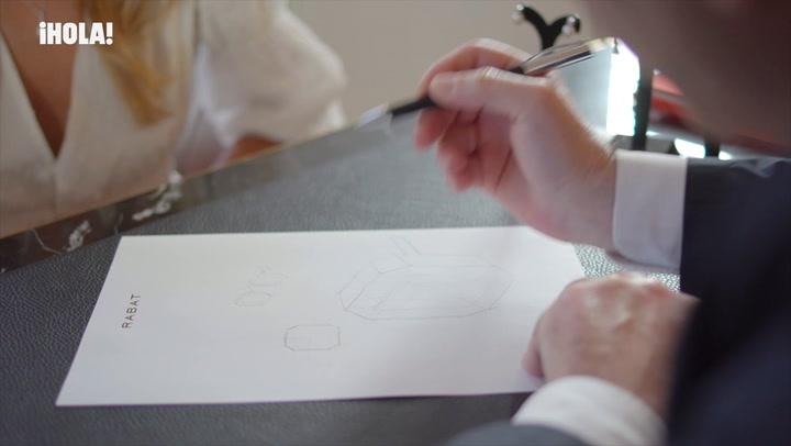 Los pendientes de diamantes que Alexandra Pereira diseñó para su boda