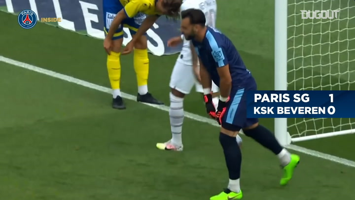 PSG's seven goals vs Beveren at the Parc des Princes