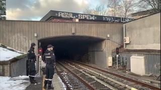 Røyk i t-banetunnelen i Oslo