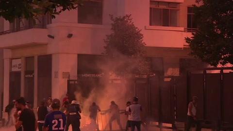 Choques entre policía y manifestantes en Beirut