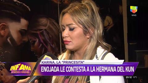Karina La Princesita le contestó a la hermana del Kun Agüero