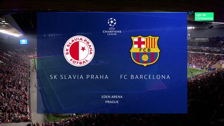 Champions League: Resumen y Goles del Partido Slavia Praga - Barça