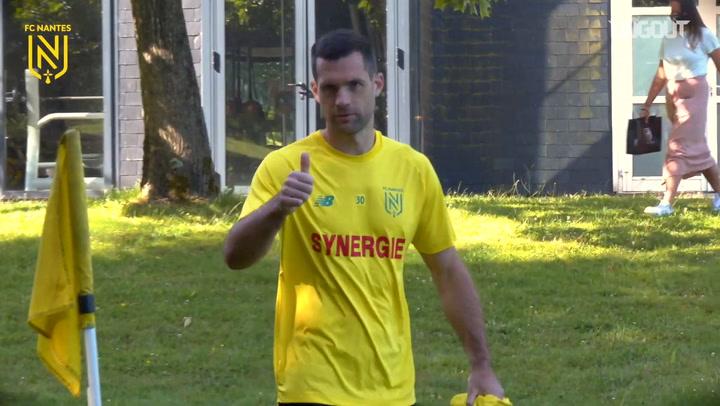 FC Nantes players work on fitness after La Jonelière return