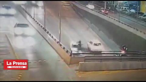 Muere motociclista en accidente de tránsito en Tegucigalpa.