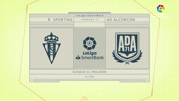 LaLiga SmartBank (J11): Resumen y goles del Sporting 1-3 Alcorcón