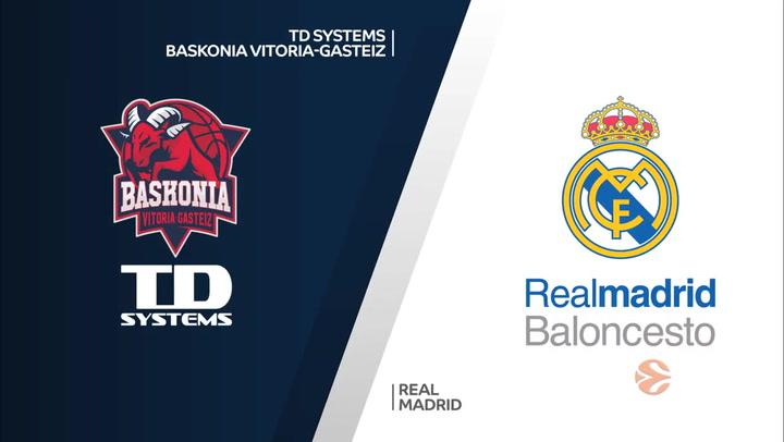 Euroliga: TD Systems Baskonia Vitoria-Gasteiz - Real Madrid
