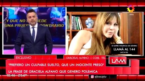 Graciela Alfano reveló que fue abusada entre los 4 y los 7 años