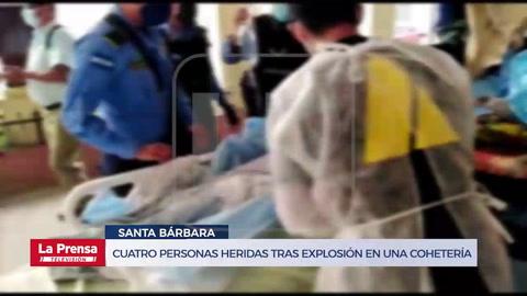 Cuatro personas heridas tras explosión en una cohetería en Santa Bárbara