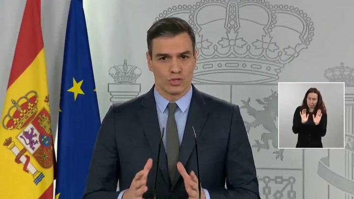 Pedro Sánchez anuncia la paralización de todas las actividades no esenciales hasta el 9 de abril