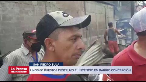 Unos 60 puestos destruyó el incendio registrado anoche en barrio Concepción
