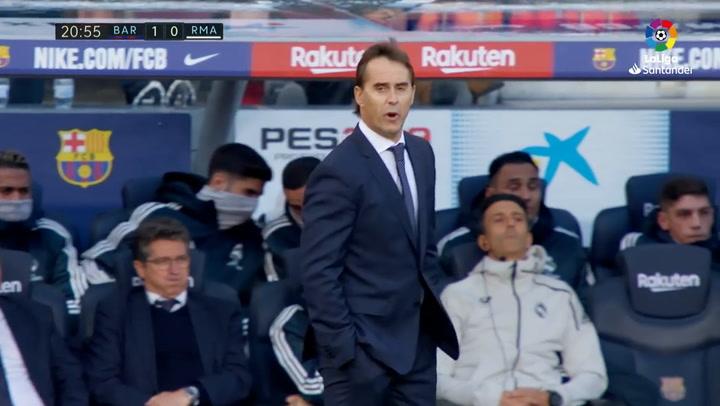 LaLiga- Barca - Real Madrid. Seguimiento a Julen Lopetegui durante el Clasico