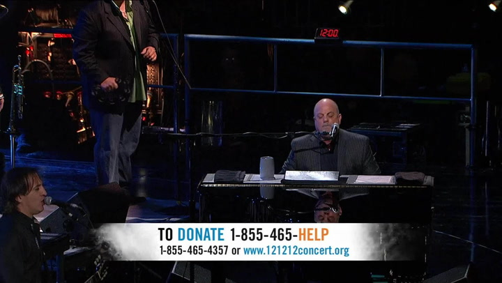 """Billy Joel Performs """"River of Dreams"""" - 12-12-12 The Concert for Sandy Relief"""