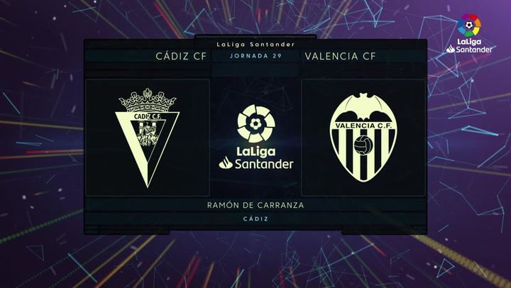 LaLiga Santander (Jornada 29): Cádiz 2-1 Valencia