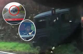 Justo lo grabaron y una llanta salió volando: El accidente de auto que tuvo crack del Arsenal