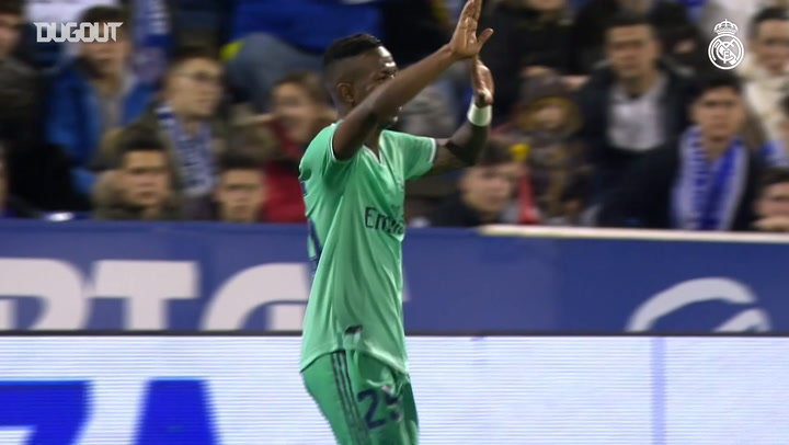Vinicius Jr scores against Zaragoza in Copa del Rey