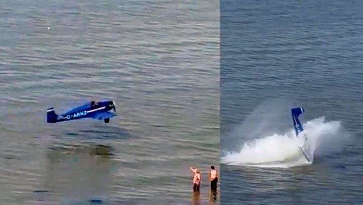 Akrobatfly måtte krasjlande ved strand