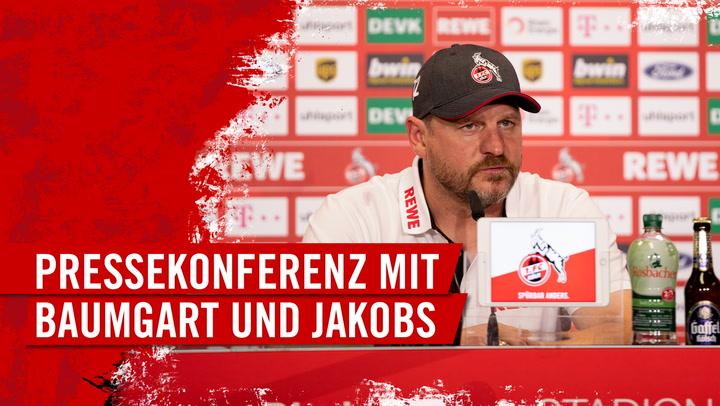 Pressekonferenz mit Steffen Baumgart und Jörg Jakobs
