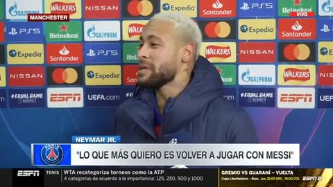 Neymar anuncia que quiere volver a jugar con Messi
