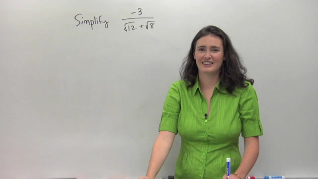 Dividing Radicals and Rationalizing the Denominator - Problem 3