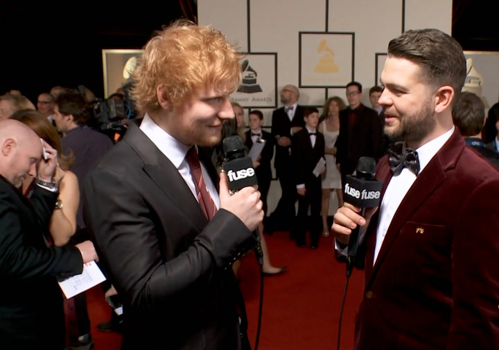 "Shows: Grammys 2014:  Rick Rubin Brought Ed Sheeran's New Album ""Back to Life"""