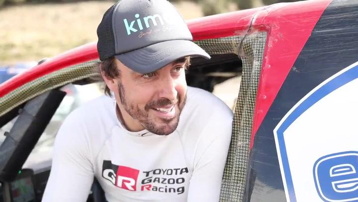 Fernando Alonso hace balance de su aprendizaje con la vista puesta en el Dakar