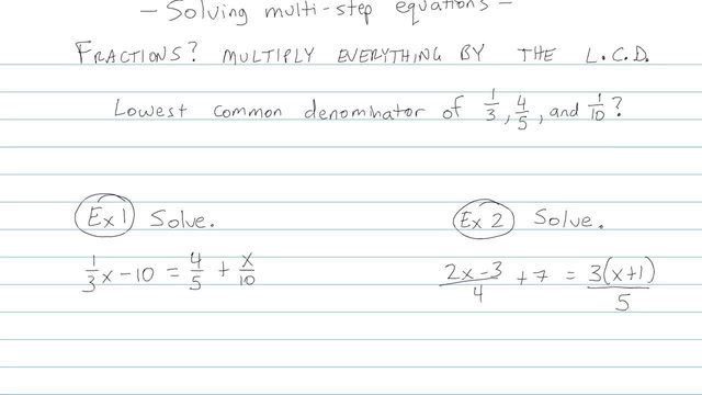 Solving Multi-step Equations - Problem 4