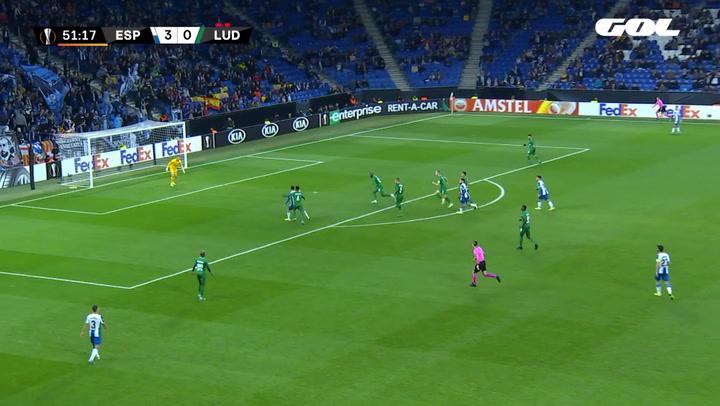 Europa League Espanyol-Ludogorets. Gol de Victor Campuzano (4-0)