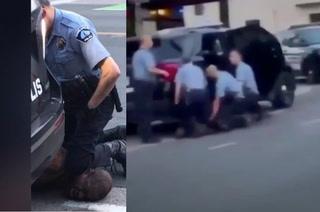 Aplastado en el pavimento: Nuevo video muestra múltiples policías inmovilizando a George Floyd