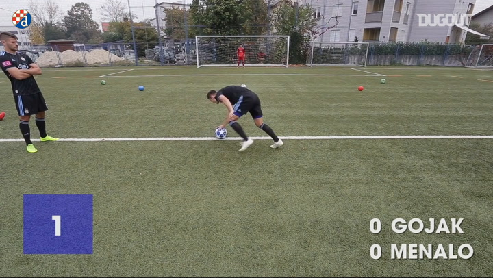 Football Challenges: Amer Gojak Vs Luka Menalo