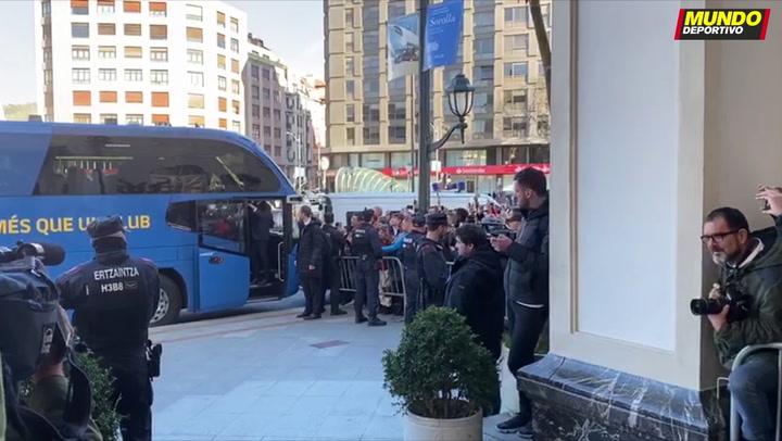 El Barça ya descansa en su hotel en Bilbao
